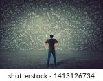 rear view of puzzled student ... | Shutterstock . vector #1413126734
