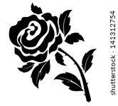 Stock vector rose 141312754