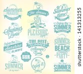 retro elements for summer... | Shutterstock .eps vector #141313255