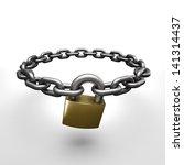 chain lock   Shutterstock . vector #141314437