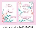 wedding invitation card ... | Shutterstock .eps vector #1413176534