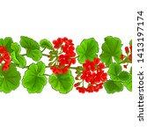 geranium vector pattern on...   Shutterstock .eps vector #1413197174