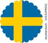 flag of sweden europe... | Shutterstock .eps vector #1413199031