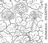 geranium vector pattern on...   Shutterstock .eps vector #1413207914