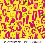 vector pink and yellow color... | Shutterstock .eps vector #1413230384
