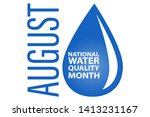 water quality month in august.... | Shutterstock .eps vector #1413231167