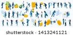 large isometric set of business ... | Shutterstock .eps vector #1413241121