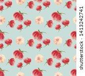 aquarelle blossom flower... | Shutterstock . vector #1413242741