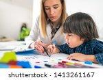psychology test for children  ...   Shutterstock . vector #1413261167