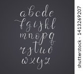 alphabet on chalkboard. vector... | Shutterstock .eps vector #1413269207