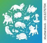 pet shop silhouette  types of... | Shutterstock . vector #1413270704