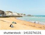 broadstairs beach  kent  uk  ...   Shutterstock . vector #1413276131