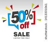 50 percent off sale modern blue ...   Shutterstock .eps vector #1413331061