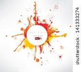 splash on abstract background | Shutterstock .eps vector #141333274