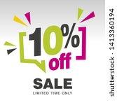 10 percent off sale modern... | Shutterstock .eps vector #1413360194