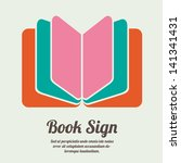 book sign. book symbol. vector... | Shutterstock .eps vector #141341431