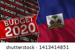 haiti and budget 2020 title...   Shutterstock . vector #1413414851