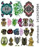 celtic ornaments vector pack 01 | Shutterstock .eps vector #1413419084