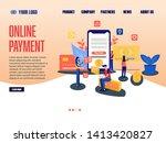 online payment landing page ... | Shutterstock .eps vector #1413420827