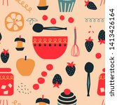 kitchen seamless pattern... | Shutterstock .eps vector #1413426164