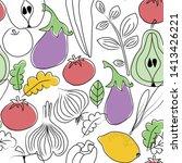 food pattern seamless hand...   Shutterstock .eps vector #1413426221