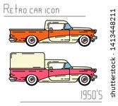 color vector icon set american...   Shutterstock .eps vector #1413448211