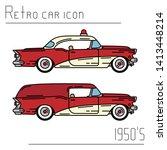 color vector icon set american...   Shutterstock .eps vector #1413448214