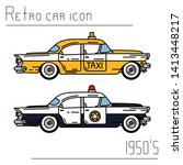 color vector icon set american...   Shutterstock .eps vector #1413448217