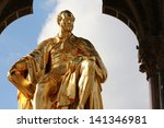 prince albert  statue. located...