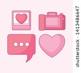 set of camera photographic with ... | Shutterstock .eps vector #1413486647