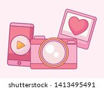 set of camera photographic with ...   Shutterstock .eps vector #1413495491