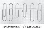 metal wire paper clip on a... | Shutterstock .eps vector #1413500261