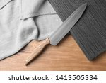 flat lay composition with sharp ...   Shutterstock . vector #1413505334