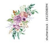 watercolor illustration. a...   Shutterstock . vector #1413508094