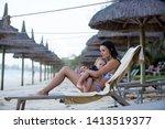 mother  breastfeeding her... | Shutterstock . vector #1413519377