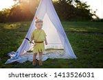 cute portrait of native... | Shutterstock . vector #1413526031
