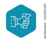 hand bribery banknote icon.... | Shutterstock .eps vector #1413541187