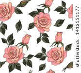 seamless pattern with hand... | Shutterstock . vector #1413551177