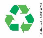 green arrows recycle eco symbol ...   Shutterstock .eps vector #1413557234