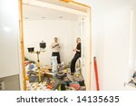 man building | Shutterstock . vector #14135635