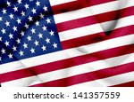 united states of america waving ... | Shutterstock . vector #141357559