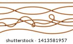 set of isolated curvy 3d ropes. ... | Shutterstock . vector #1413581957