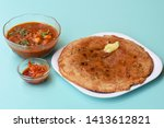 indian flatbread   aloo kulcha... | Shutterstock . vector #1413612821