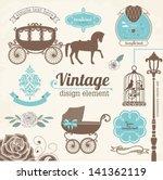 set of wedding invitation... | Shutterstock .eps vector #141362119