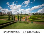 Botanical Gardens of Curitiba on a sunny day in Curitiba, the capital and largest city in the state of Parana, Brazil.