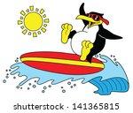 summer penguins | Shutterstock .eps vector #141365815