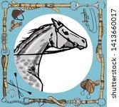 Dapple Grey Horse Snout In...