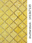 Old Yellow Wall Tile Background