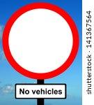 no vehicles except bicycles... | Shutterstock . vector #141367564