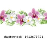 tropical seamless border.... | Shutterstock .eps vector #1413679721